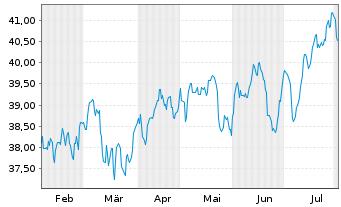 Chart Fr.Temp.Inv.Fds-F.Eu.S.-M.C.G. - 6 Monate