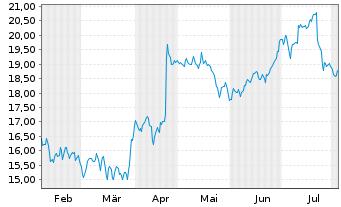 Chart Koninklijke Philips N.V. - 6 Monate