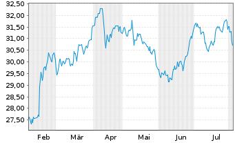 Chart Ahold Delhaize N.V., Konkinkl. - 6 Monate