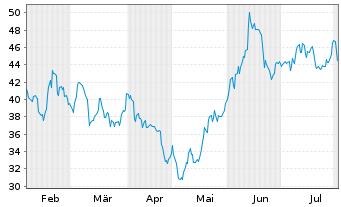Chart Appian Corp. - 6 Monate