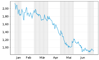 Chart Aravive Inc. - 6 Monate