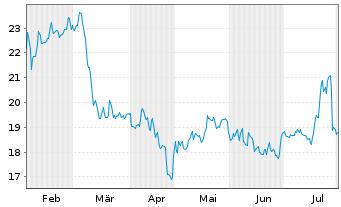 Chart Avantor Inc. - 6 Monate