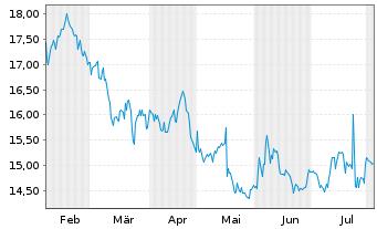 Chart NextGen Healthcare Inc. - 6 Monate