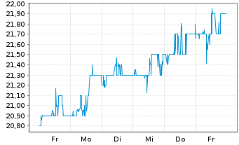 Chart Radian Group Inc. - 1 Woche
